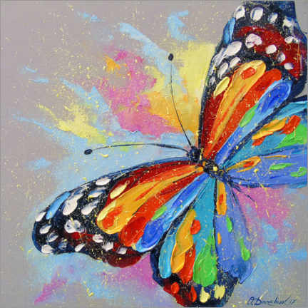 Wood print  Butterfly in flight - Olha Darchuk