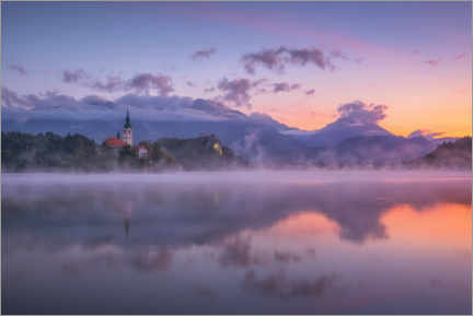 Wall sticker  Dawn on Lake Bled - André Wandrei