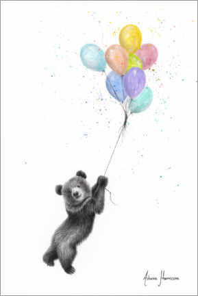 Canvas print  Little bear with balloons - Ashvin Harrison
