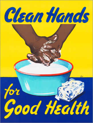 Premium poster  Clean hands for good health - Advertising Collection
