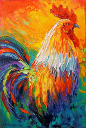 Premium poster  Rooster - Olha Darchuk