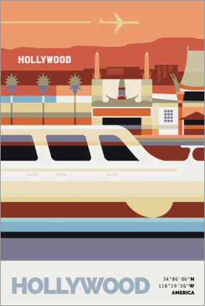 Canvas print  Hollywood - Nigel Sandor