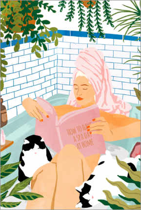 Foam board print  How To Have A Spa Day At Home - Uma 83 Oranges