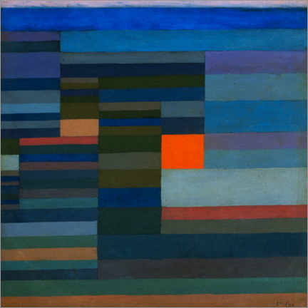Acrylic print  Fire in the Evening - Paul Klee