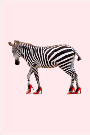 Acrylic print  Zebra in high heels - Jonas Loose