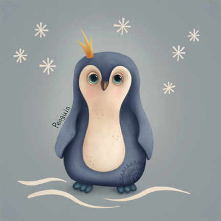 Canvas print  Little penguin - Elena Schweitzer
