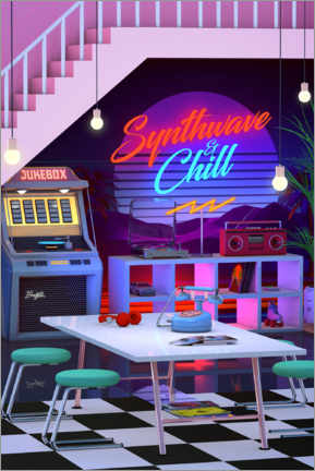 Premium poster  Synthwave And Chill - Denny Busyet