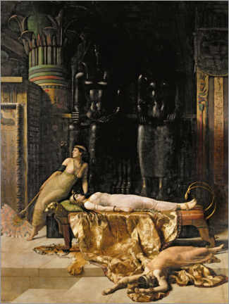 Canvas print  Death of Cleopatra - John Collier
