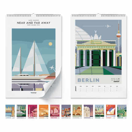 Wall calendar  Near and far away 2021 - Nigel Sandor