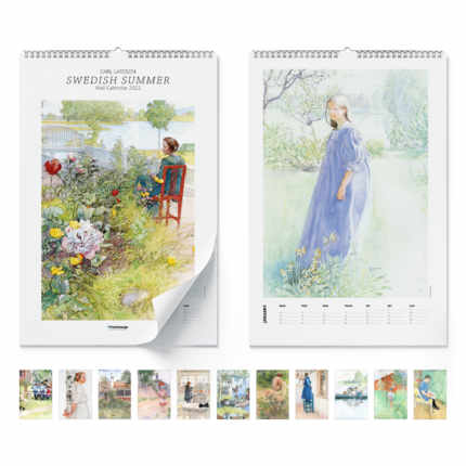 Wall calendar  Swedish Summer 2021 - Carl Larsson