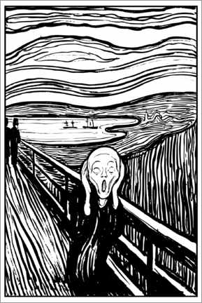 Colouring poster The Scream