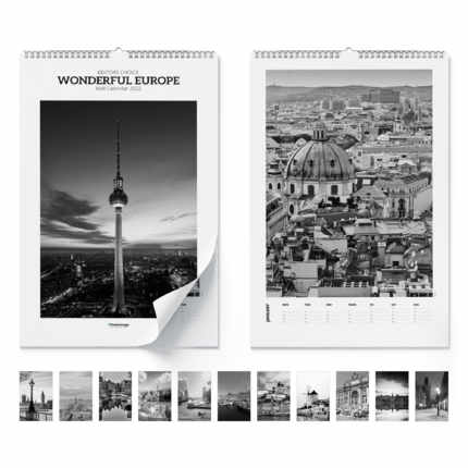 Wall calendar  Wonderful Europe 2021
