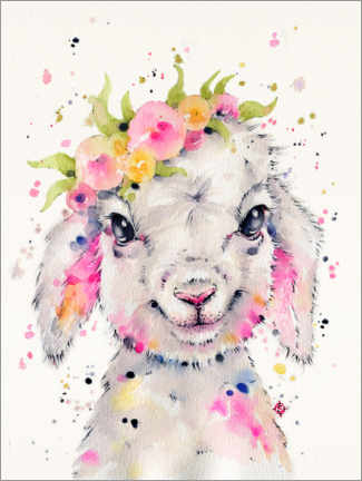 Canvas print  Little Lamb - Sillier Than Sally