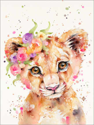 Acrylic print  Little Lioness - Sillier Than Sally