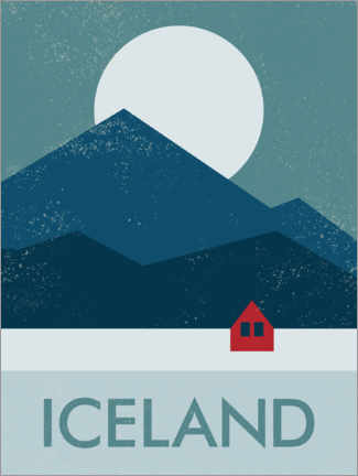 Canvas print  Fisherman's hut, Iceland - Swissty