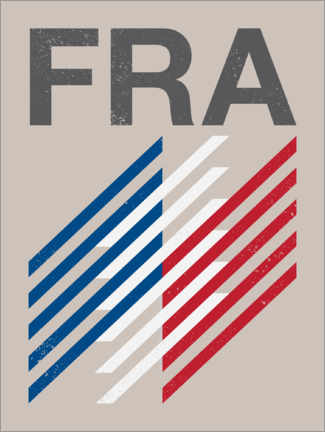 Premium poster  France retro flag - Swissty