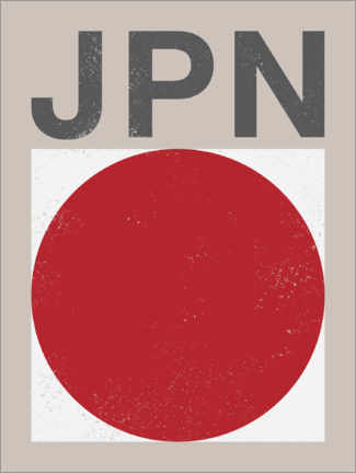 Premium poster  Japan retro flag - Swissty