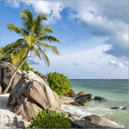 Premium poster Anse Source d'Argent beach in the Seychelles