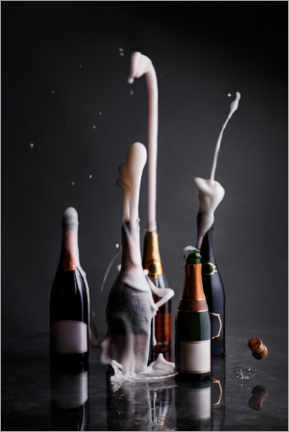 Premium poster  Opened champagne bottles - The Picture Pantry