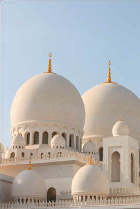 Canvas print  The Sheikh Zayed Mosque in Abu Dhabi - CuboImages