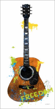 Canvas print  Guitar II graffiti - Mike Schick