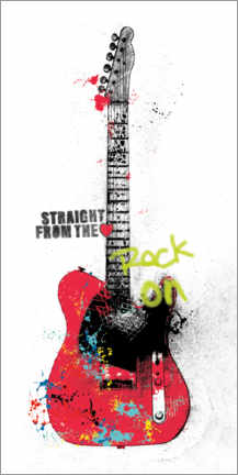 Canvas print  Guitar graffiti - Mike Schick