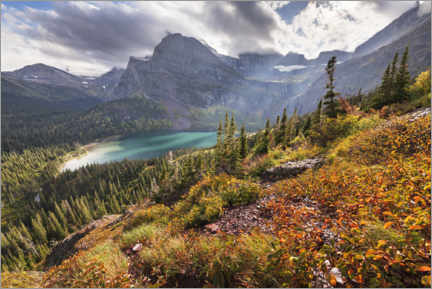 Wall sticker  Turquoise mountain lake in the Rocky Mountains in autumn - The Wandering Soul