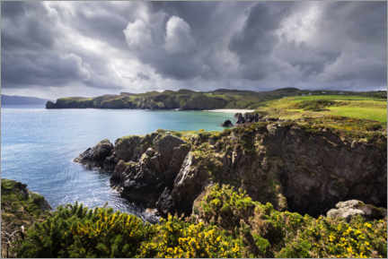 Canvas print  Threatening clouds over the coast and bays of Ireland - The Wandering Soul