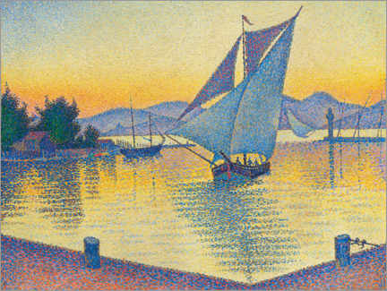 Aluminium print  Harbor in the sunset - Paul Signac