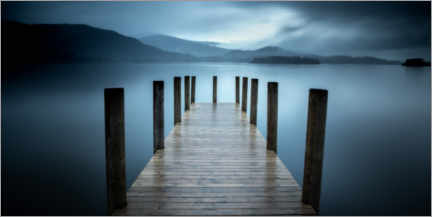 Premium poster Pier on Derwent Water