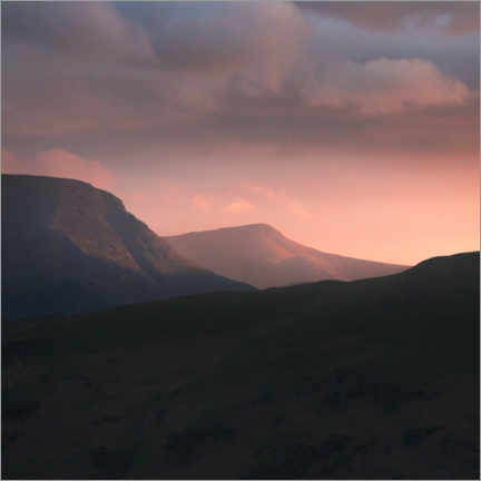 Premium poster Sunset over the Lake District