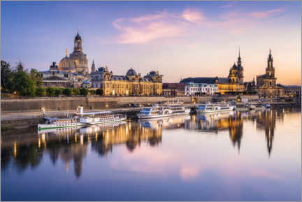 Canvas print  Dresden skyline at sunset - Jan Christopher Becke