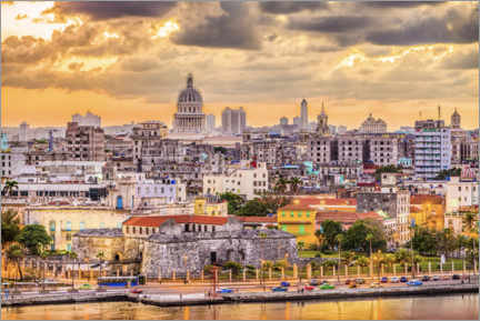 Canvas print  Havana skyline