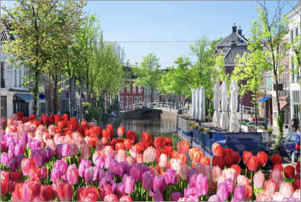 Canvas print  Sea of tulips in Amsterdam