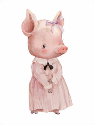 Premium poster  Piggy in a pink dress - Kidz Collection