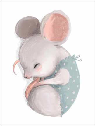 Premium poster  Little Mouse Taking a Nap - Kidz Collection
