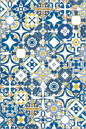 Canvas print  Azulejo tiles in Portugal