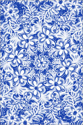 Canvas print  Delft blue design