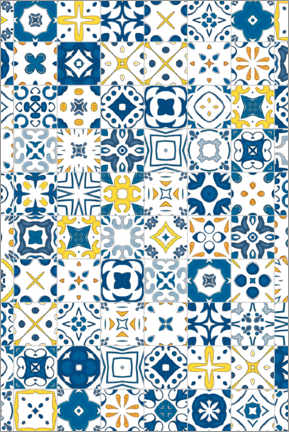 Canvas print  Decorative azulejo pattern
