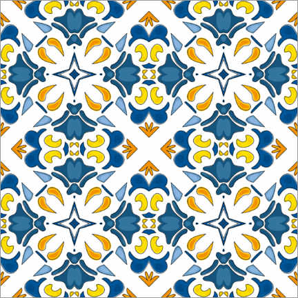 Canvas print  Summery azulejo decor