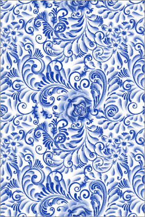 Canvas print  Traditional Delft blue