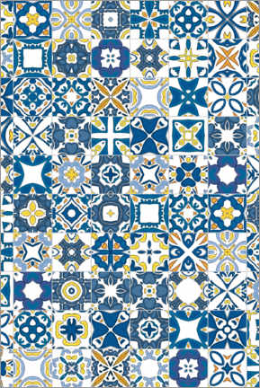 Canvas print  Bright azulejos in Lisbon