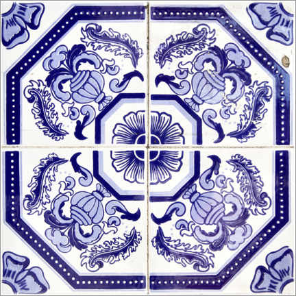 Canvas print  Azulejo royal blue