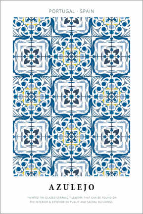 Canvas print  Azulejo - Art Couture