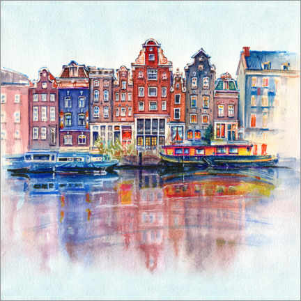 Acrylic print  The canals of Amsterdam