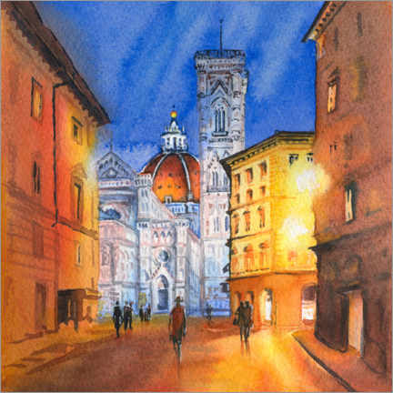 Acrylic print  Piazza del Duomo in Florence, Italy