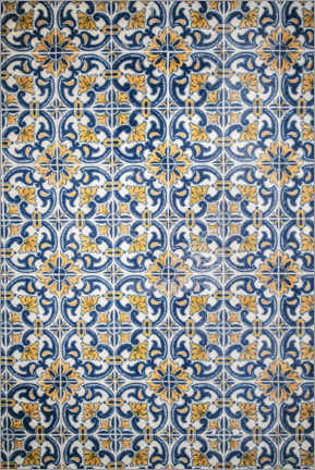 Canvas print  Azulejos blue-orange
