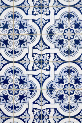 Canvas print  Delft blue decor