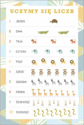 Premium poster  We learn the numbers (Polish) - Kidz Collection