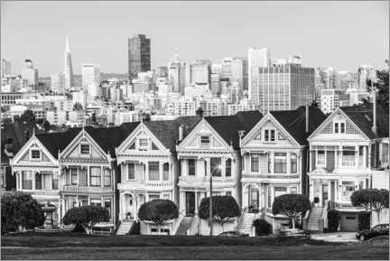 Premium poster  San Francisco skyline, black and white